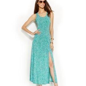 MICHAEL KORS Print Sleeveless Maxi Dress L